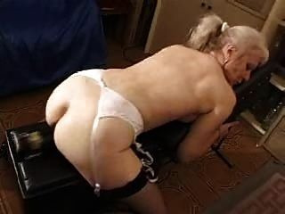French Shaved Blonde Granny Pt12