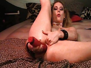 Antonia And Her Huge Pink Dildo!!!