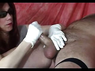 Harsh Cock Milking Handjob From Mistress