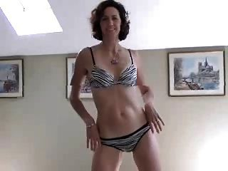 Hot mature wife striping