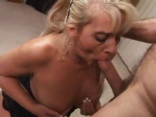 Blond wives having blow job
