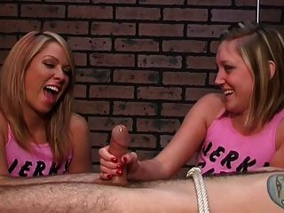 Laughting blondes deny and ruin the orgasm - 4 3