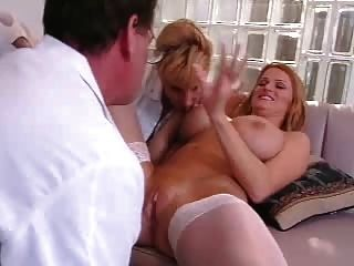 Two Nurses Doing The Doctor