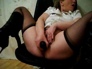 Hot Hairy Squirting Mature With Dildo
