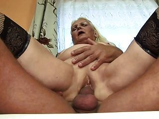 Fat Blonde Granny (german)