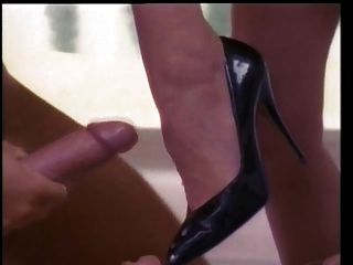 Cum On Her High Heel And Let Her Friend Lick It