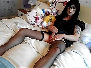 Tranny Supersatin Cums Again In Slow Motion