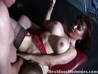 Big breast milf takes it internally
