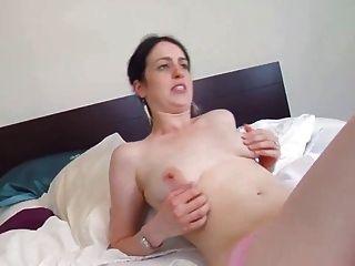 Brunette Melinda Hairy Pink Pussy Big Pink Tits Masturbates