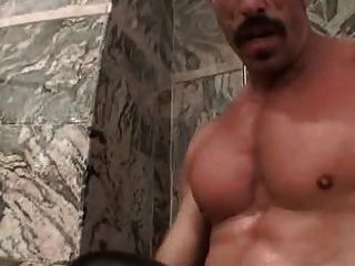 On Daddy Russian grandpa gay Cum dumping Jerking the cum