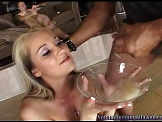 Blonde Collects A Plate Full Of Cum! Pt.2