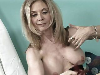 Nina hartley and ariel in hot strap on action