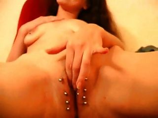 Heavy Pierced Amateur Slut. Pussy Pierced And Nipples