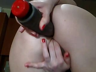 Sexy Cam Girl With Perfect Ass Plays With Dildo In Her Ass