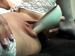 Another Blonde In Lingerie Fucking Her Shoes Deeply