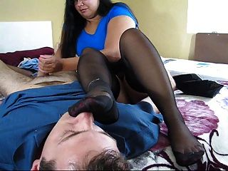 Lickable mature nylon feet handjob tube sexy but for