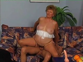 Granny In Stockings Eager For Cock