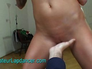 Wild Brunette Does Lapdance, Blow Job And Titty Job