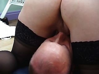 Blonde Milf In  Stockings Fucks And Gets A Facial