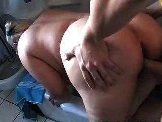 Blonde Chubby Fucked Hard In The Bathroom