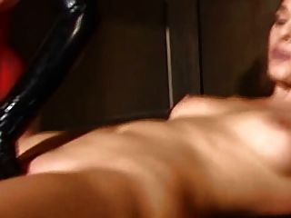 Tied, Machine-fucked And Fucked To Cum