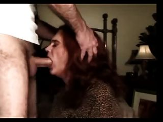 Mature And Experienced Transvestite Fucked In The Mouth