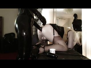 image Femdom queen rubberdoll fucked by boxed doll nicci tristan