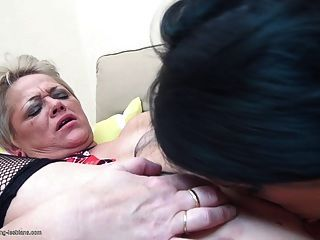 Old Whore Chews Young Hookers Face Off