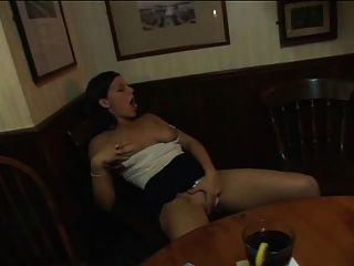 Reluctant Woman Joins Groupsex In The Bar