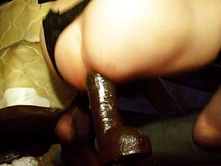 Abusing My Bitch Ass With Huge Black Dildos And A Fist Too!