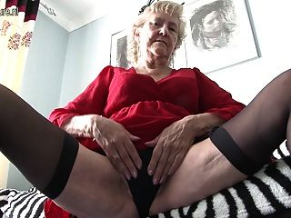 British Granny Showing Off Her Goods
