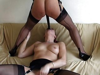 2 British Matures In Stockings Play