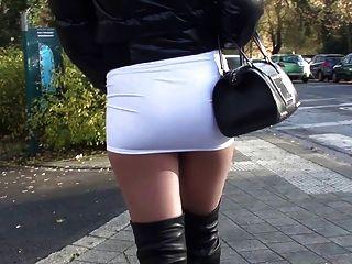 skirt fuck public