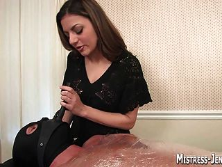 Mistress Lydia Strap-on And Cock Drilling Before Milking