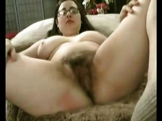 Fat Chubby Gf With Big Tits Masturbating Her Hairy Pussy