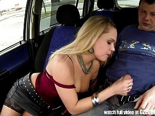Czech Bitch - Real Whore Get Paid For Sex Between Trucks