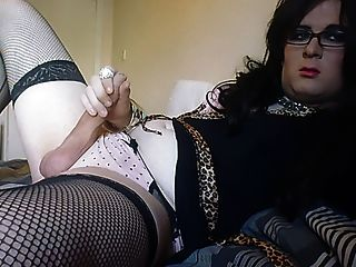 Sexy Cd Crossdress Crossdresser Tranny Solo Cock Play