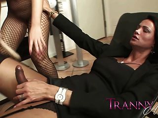 Tranny Art Blonde Milf In Full Length Body Stocking Fuck A T