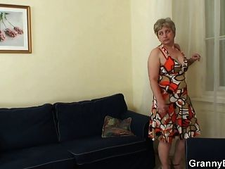Lonely wife prares for hardcore masturbation with a finger fuck orgasm 9