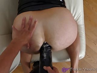 Femdom Strapon Fucking With Huge Dildo