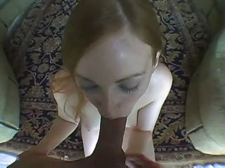 Freaky chick with scalped hair fucks and sucks