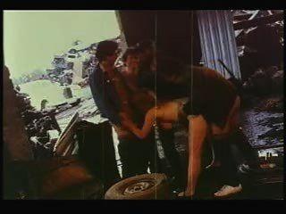 Lisa Deleeuw Pulls A Train In A Junkyard - Vintage