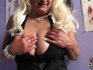 White Granny Taste Big Black Cock