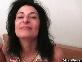 Hairy Granny Emanuelle Spreads Her Swollen Pussy