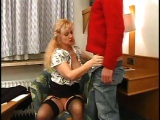 Sexy Mom N85 Blonde Mature With A Young Man
