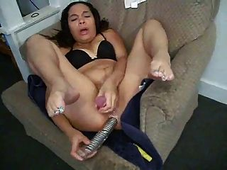 Two Dildos At The Same Time Make Her Cum