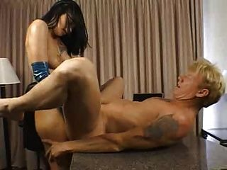 Belldonna Pins A Guys Ass With A Nice Size Strap-on
