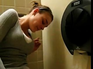 Masturbating In Public Toliet