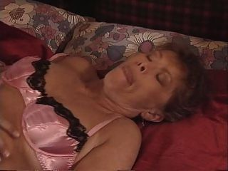 Granny In Pink Lingerie Fucks