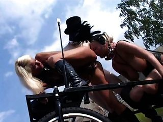 Blonde Fetish-slut Kathleen In Bizzare Outdoors-scene
